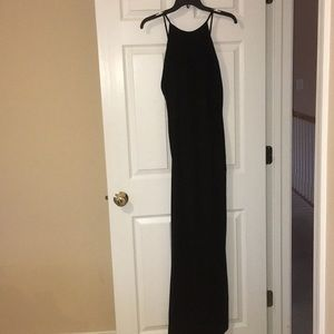 Formal Black Velvet Dress